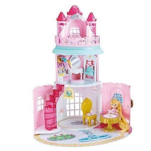 Купить Junfa toys Замок с сумочке QL050-2, розовый/белый, Кукольные домики