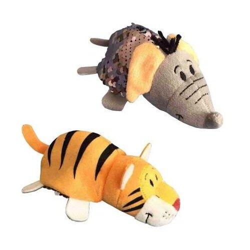 Мягкая игрушка 1 TOY Вывернушка Тигр-Слон с пайетками 12 см мягкая игрушка вывернушка 40 см 2в1 тигр черепаха