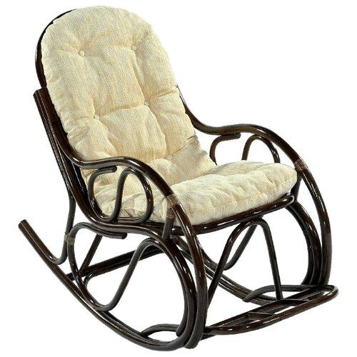 Кресло-качалка ЭкоДизайн 05/17 темно-коричневый/золотистый