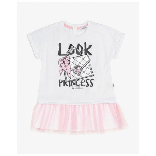 Платье Gulliver Baby размер 74, белый/принт платье oodji ultra цвет красный белый 14001071 13 46148 4512s размер xs 42 170