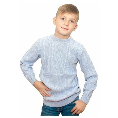 джемпер для мальчика let s go монстры цвет ярко голубой 6257 размер 98 Джемпер Golden Kid`s Art размер 98-104, перванш