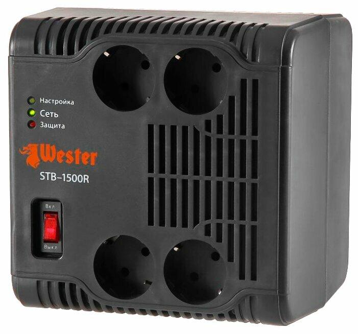 Стабилизатор напряжения однофазный Wester STB-1500R (1.2 кВт)