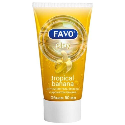 Гель-смазка FAVO Tropical banana 50 мл туба гель смазка favo sensual vanilla 50 мл туба