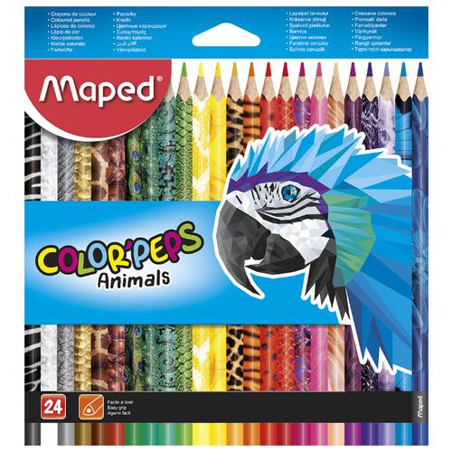 Купить Maped Цветные карандаши Color Peps Animals 24 цвета (832224)
