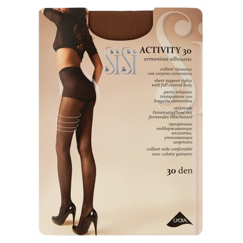 Колготки Sisi Activity 30 den, размер 5-MAXI XL, daino (коричневый) колготки sisi activity 70 den размер 5 maxi xl daino коричневый