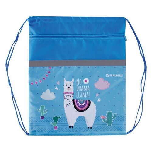brauberg сумка для обуви flamingo 229174 синий BRAUBERG Сумка для обуви Llama (229177) бирюзовый