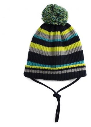 Шапка playToday размер 52, синий/зеленый/серый