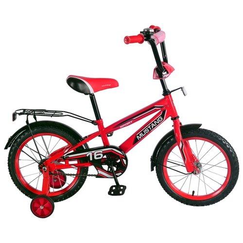 цена Детский велосипед MUSTANG ST16041-NT красный/черный (требует финальной сборки) онлайн в 2017 году