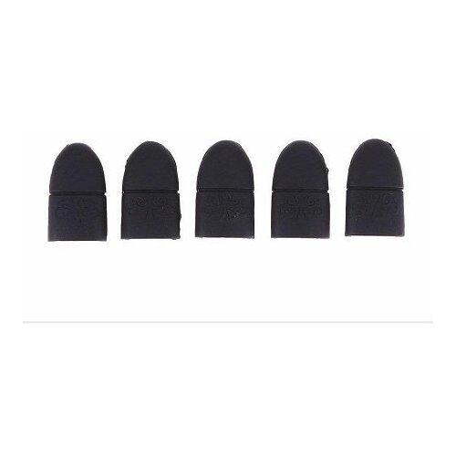 UVOO Силиконовые колпачки для снятия гель-лака (5 шт.) черные