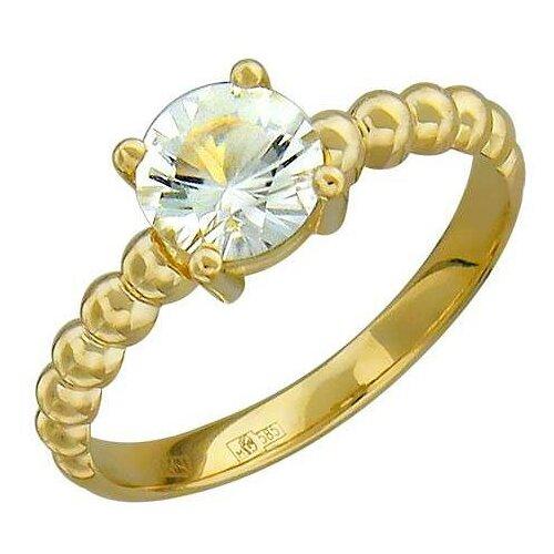 Эстет Кольцо с 1 аметистом из жёлтого золота 01К337533-6, размер 18 ЭСТЕТ