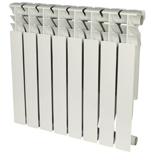 Радиатор секционный алюминий ROMMER Al Plus 500 x8 подключение универсальное боковое RAL 9016 биметаллический радиатор rifar рифар b 500 нп 10 сек лев кол во секций 10 мощность вт 2040 подключение левое