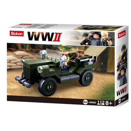 Купить Конструктор SLUBAN WW2 M38-B0682 ГАЗ 67, Конструкторы