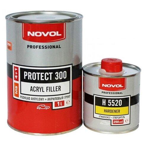 Грунт-наполнитель NOVOL PROTECT 300 4+1 (MS), 2 шт. черный 1 л