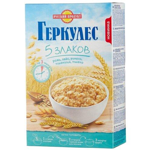 Русский Продукт Геркулес 5 злаков, 400 г русский продукт геркулес овсяная каша с клубникой 30 шт по 35 г