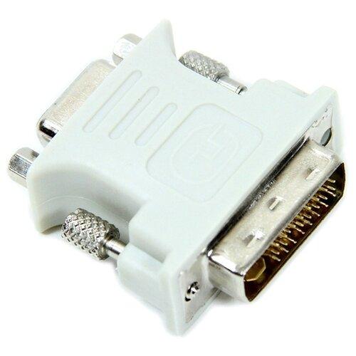 Переходник VCOM DVI-I - VGA (VAD7817) белый переходник vcom telecom vad7817 dvi vga 29m 15f