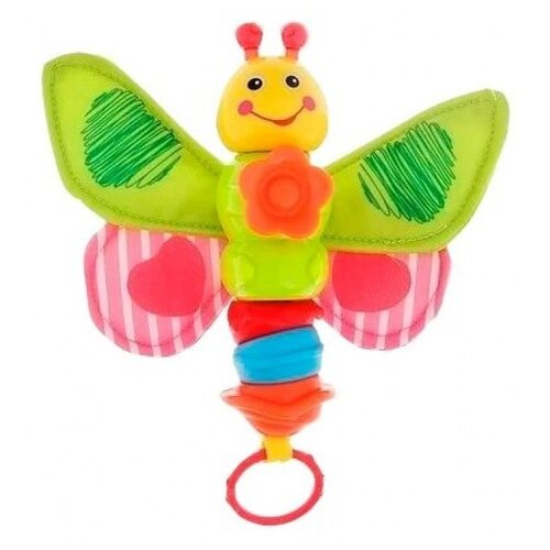 Интерактивная развивающая игрушка Play Smart Чудо-гусеница желтый/зеленый/красный игрушка пластмассовая каталка вертолет play smart pac 28х15х10 см арт 1192