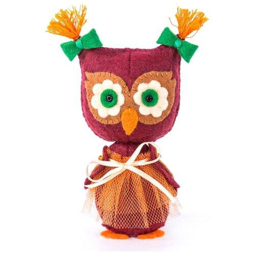 Купить Перловка Набор для шитья игрушки из фетра Совушка (ПФД-1060), Изготовление кукол и игрушек
