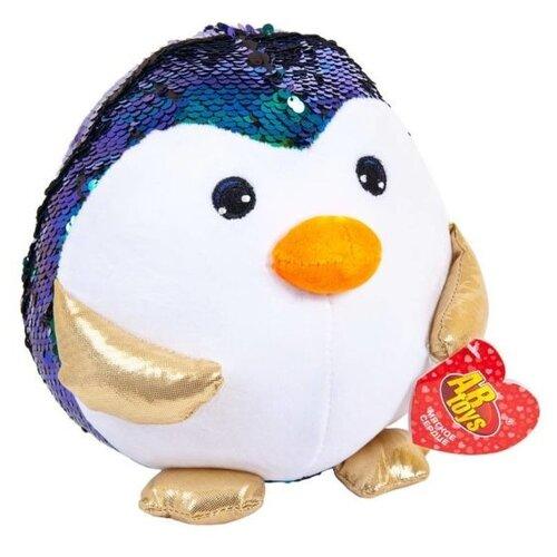 Купить Мягкая игрушка ABtoys Пингвин с пайетками 18 см, Мягкие игрушки