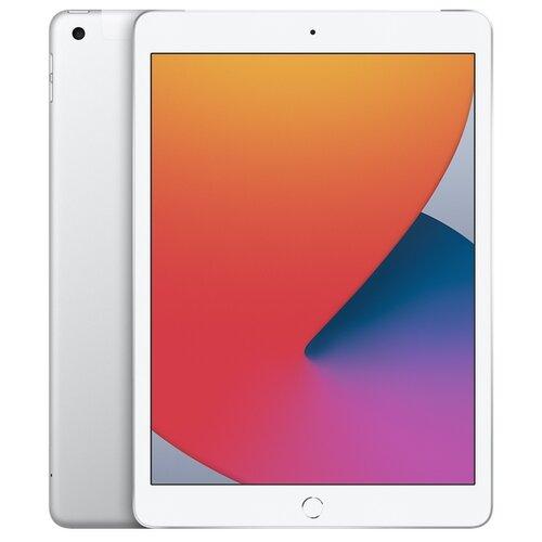 Планшет Apple iPad (2020) 128Gb Wi-Fi + Cellular silver планшет apple ipad pro 12 9 2020 128gb wi fi cellular space gray