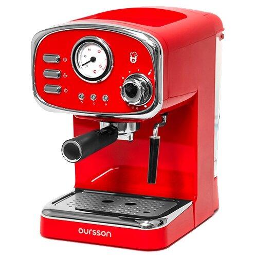 Фото - Кофеварка рожковая Oursson EM1505, красный кофеварка oursson cm0400g оранжевый