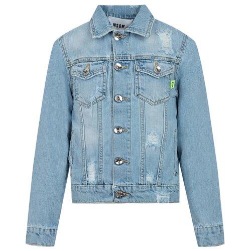 Купить Куртка MSGM 022414 размер 164, 126 голубой, Куртки и пуховики