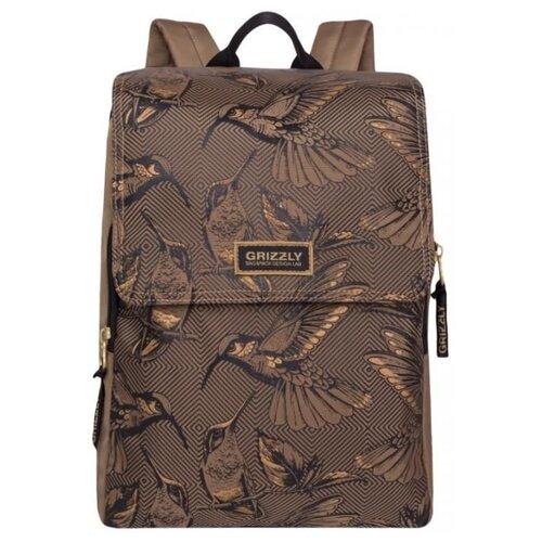 Рюкзак Grizzly RD-831-1 11.5 бежевый рюкзак городской grizzly цвет черный фуксия rd 831 2 3