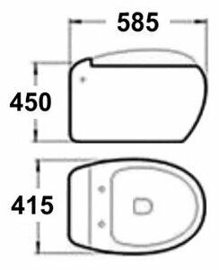 Чаша унитаза подвесная MELANA MLN-821B