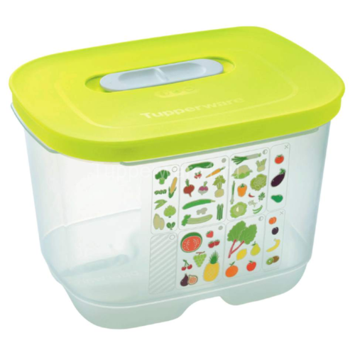 """Tupperware Контейнер """"Умный холодильник"""" высокий 1800 мл прозрачный/зеленый"""