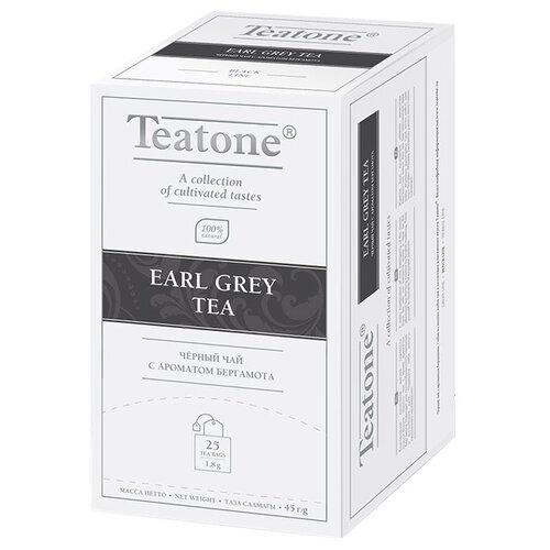 Чай черный Teatone Earl grey в пакетиках, 25 шт. earl grey чёрный чай с ароматом бергамота teatone в стиках для разовой заварки 100шт 1 8г