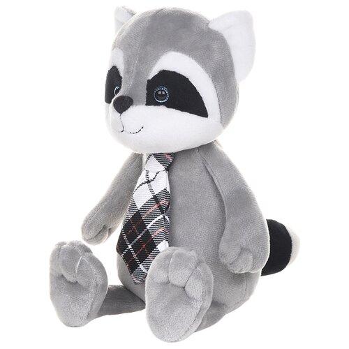 Купить Мягкая игрушка Maxitoys Романтичный енотик в клетчатом галстучке 25 см, Мягкие игрушки