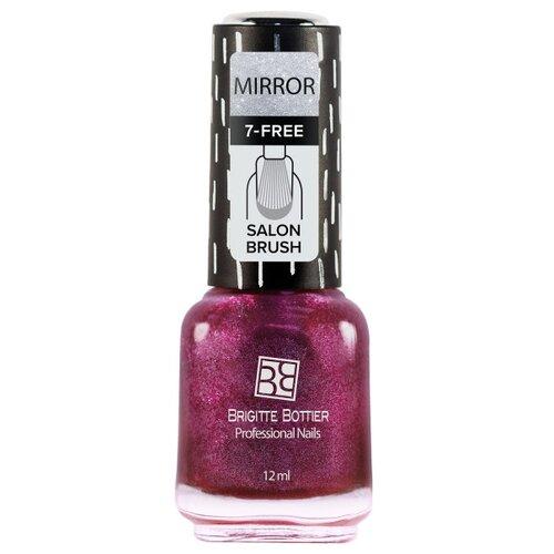 Лак Brigitte Bottier Mirror 12 мл. тон 05 темно-пионовыйЛак для ногтей<br>