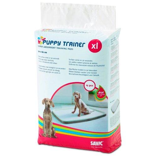 Пеленки для щенков впитывающие SAVIC Puppy Trainer Pad XL 90х60 см 15 шт.
