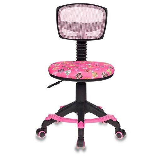 цена Компьютерное кресло Бюрократ CH-299-F детское, обивка: текстиль, цвет: розовый сланцы онлайн в 2017 году