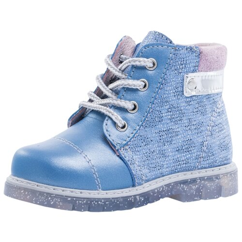 Ботинки КОТОФЕЙ размер 22, 24 голубой