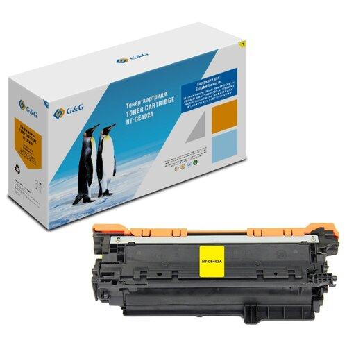 Фото - Картридж лазерный G&G NT-CE402A желтый (6000стр.) для HP LJ Enterprise 500 M551n/MFP M575dn/MFP M570 картридж t2 tk 540c для для hp lj enterprise 500 m551 500 m575 6000стр голубой