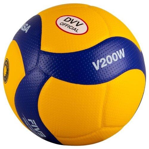 Волейбольный мяч Mikasa V200W желто-синий мяч волейбольный mikasa mva300 синий желтый размер 5
