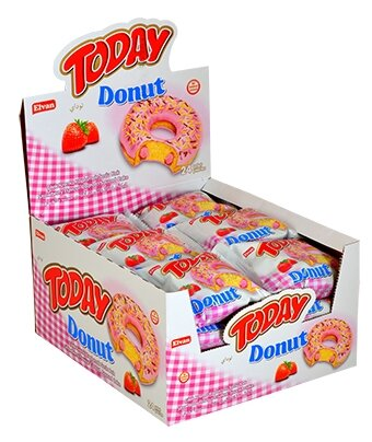 Пончик «Today Donut strawberry» 50 гр