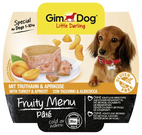 Корм для собак GimDog (0.1 кг) 1 шт. Little Darling Fruity Menu паштет из индейки с абрикосом