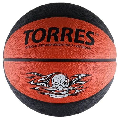Баскетбольный мяч TORRES Game Over, р. 7 серый/красный