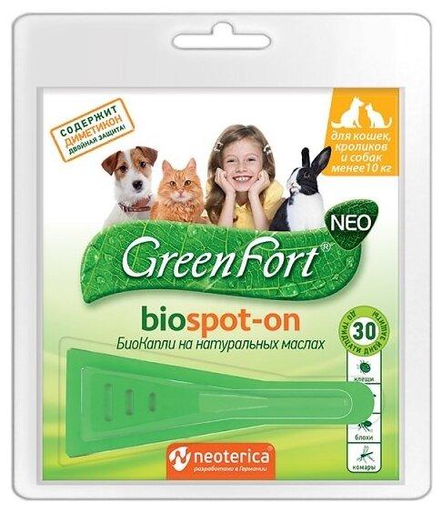 GreenFort neo БиоКапли для кошек и собак до 10 кг