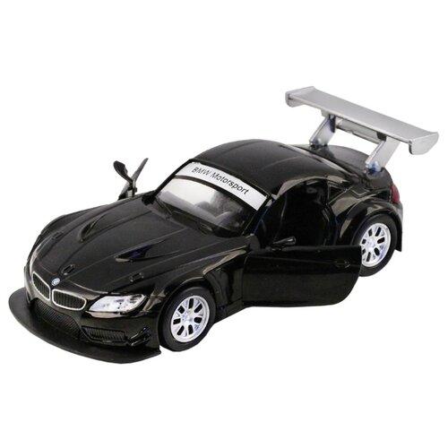 Купить Легковой автомобиль Автопанорама BMW Z4 GT3 (J12280/JB1200132) 1:38 11 см черный, Машинки и техника