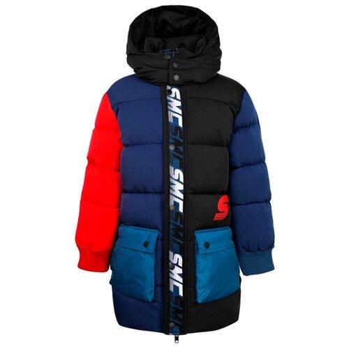 Купить Пуховик Stella McCartney 601424 SPK33 размер 104, черный/синий, Куртки и пуховики