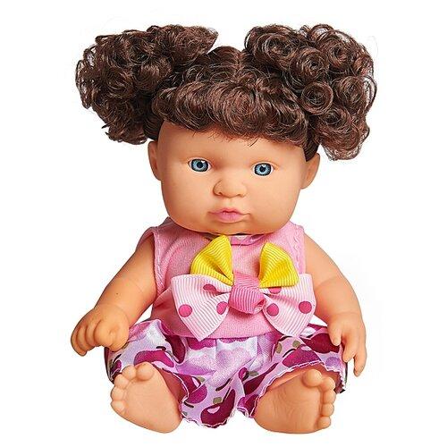 Кукла Lovely baby в малиновом платье с темными локонами, 18.5 см, XM632/5 кукла подвесная lovely joy 7 5 16 см