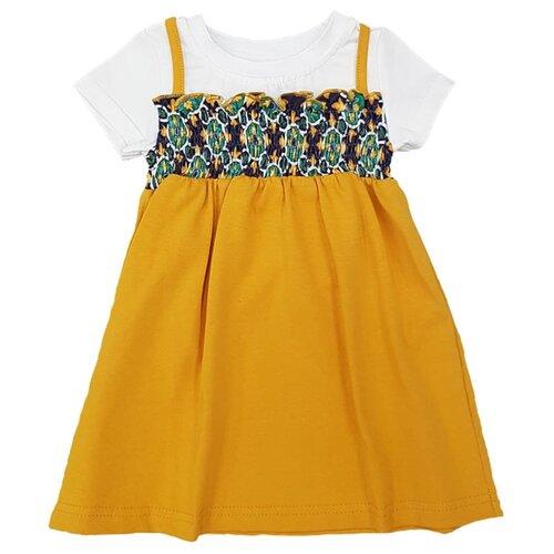 Платье ЁМАЁ размер 86, горчица