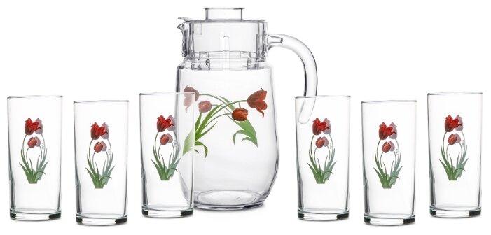 Набор Endura Tulip кувшин + стаканы 7 предметов