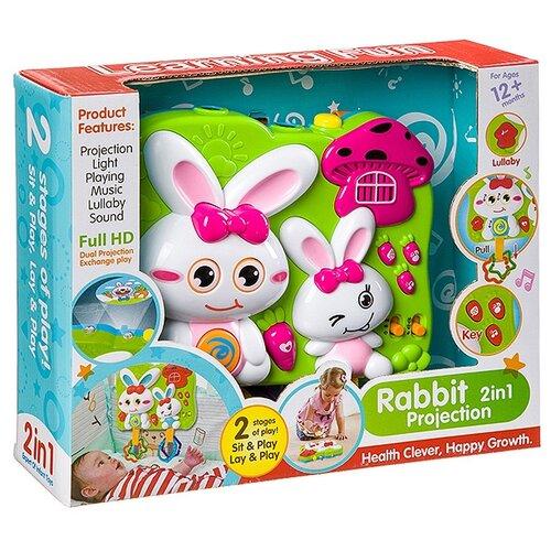 Купить Развивающая игрушка Кролик (FS-35816) белый/зеленый, Shenzhen Jingyitian Trade, Развивающие игрушки