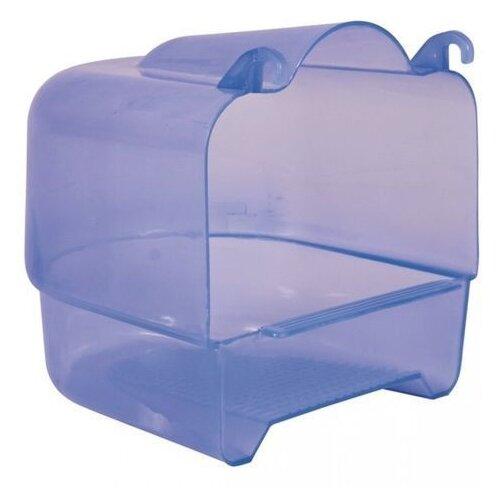 Купалка для птиц TRIXIE 15х16х17см пластиковая прозрачно-голубая для мелких и средних птиц целиковая, сиреневый купалка для птиц trixie 15х16х17см пластиковая прозрачно голубая для мелких и средних птиц целиковая