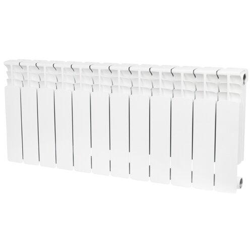 Радиатор секционный биметаллический STOUT Space 350 x12 теплоотдача 1560 Вт, 12 секций, подключение универсальное боковое RAL 9016 секционный радиатор stout space 500 биметаллический srb 0310 050009 белый 9 секций