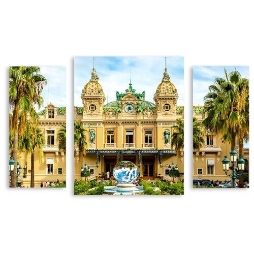 Модульная картина на холсте Монте Карло 120x75 см
