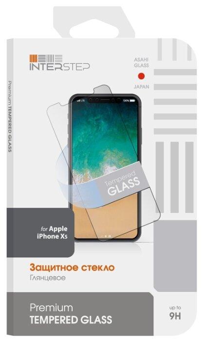 Защитное стекло INTERSTEP для Apple iPhone XS прозрачный фото 1